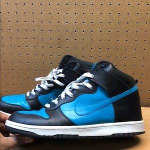 Nike Dunk Black/Glass Blue Men's Sneakers sz 12